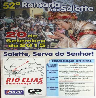 Santuário realizou o lançamento da 52ª Romaria de Nossa Senhora da Salette